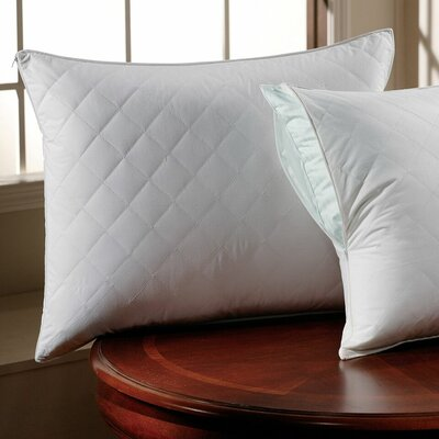300 Thread Count Sateen Quilted Pillow Protector Size: Standard