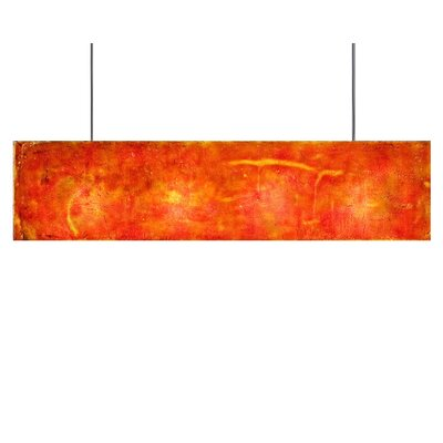 Galaxy 3-Light Kitchen Island Pendant Shade Color: Red