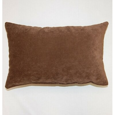 Cosmo Knife Edge Lumbar Pillow Color: Chocolate