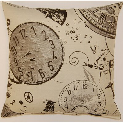 Tictoc Sepia Knife Edge Throw Pillow