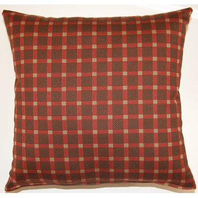 Koko Check Throw Pillow Color: Chocolate
