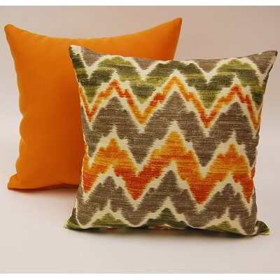 Timissa 2 Piece Knife Edge Cotton Throw Pillow Set Color: Canyon