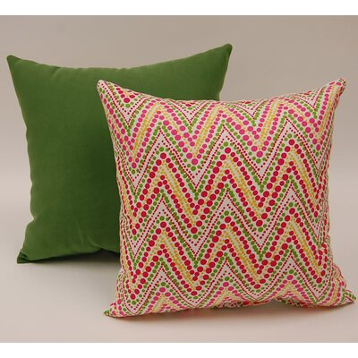 2 Piece Trend Spotter Knife Edge Cotton Throw Pillow Set Color: Punch