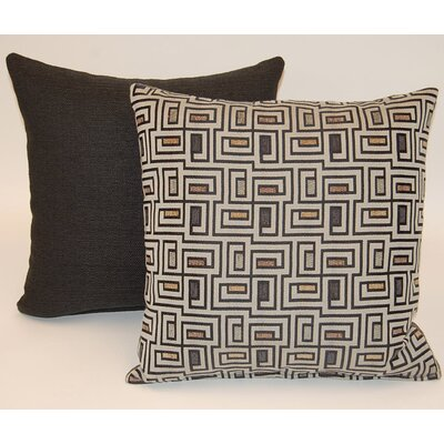 Barton 2 Piece Knife Edge Throw Pillow Set Color: Pebble