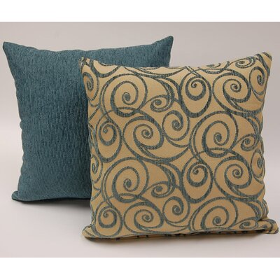 2 Piece Art Nouveau Knife Edge Throw Pillow Set