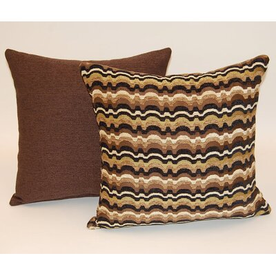 2 Piece Heartthrob Knife Edge Throw  Pillow Set Color: Chocolate