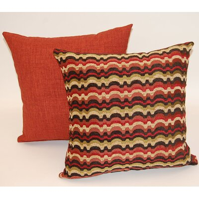 2 Piece Heartthrob Knife Edge Throw  Pillow Set Color: Jewel