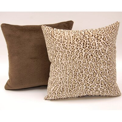 2 Piece Jungle Cat Knife Edge Throw Pillow Set