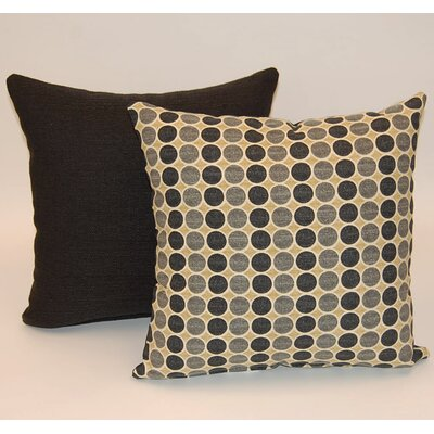 2 Piece Round Trip Knife Edge Cotton Throw Pillow Set Color: Fog