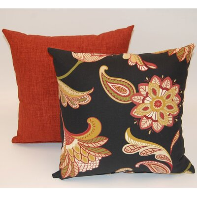 2 Piece Savannah Knife Edge Cotton Throw Pillow Set