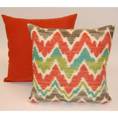 Timissa 2 Piece Knife Edge Cotton Throw Pillow Set Color: Sunset