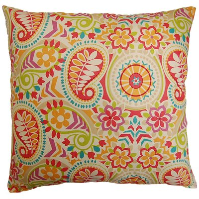Paisley Prism Cotton Throw Pillow Color: Sorbet