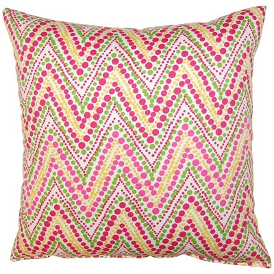 Trend Spotter Cotton Throw Pillow Color: Punch
