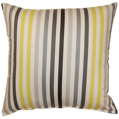 Line Up Cotton Throw Pillow Color: Domino