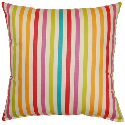 Line Up Cotton Throw Pillow Color: Sorbet