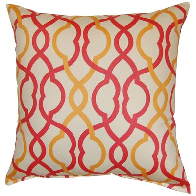 Make Waves Cotton Throw Pillow Color: Sorbet