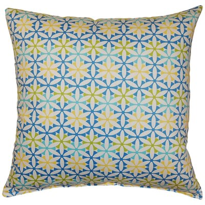 Sisemore Cotton Throw Pillow Color: Bluebell