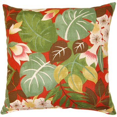 Isla Throw Pillow Color: Crimson