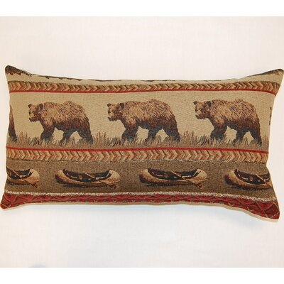 River Trail Lumbar Pillow Color: Wine
