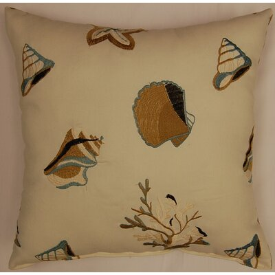 Shelly Beach Knife Edge Throw Pillow Color: Natural