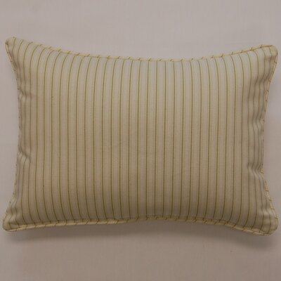 Marina Stripe Cotton Lumbar Pillow Color: Lime