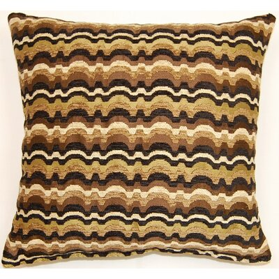 Throw Pillow Color: Chocolate