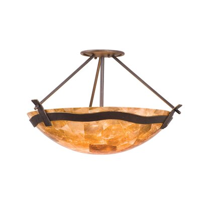 Aegean 3-Light Semi Flush Mount Finish: Tawny Port