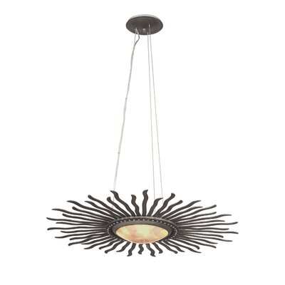 Polaris 4-Light Pendant Base Finish: Florence Gold