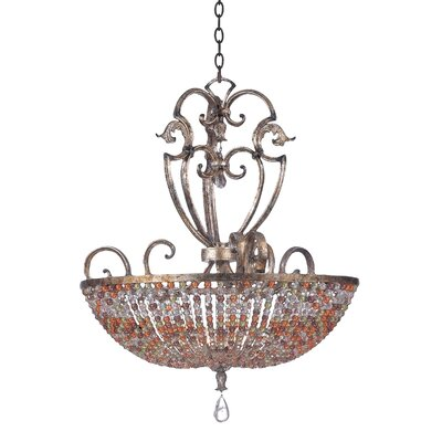 Chesapeake 7-Light Inverted Pendant Finish: Antique Silver Leaf
