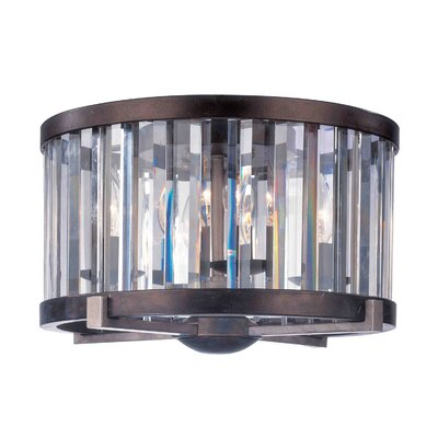 Foster 4-Light Crystal Chandelier Finish: Grecian Bronze