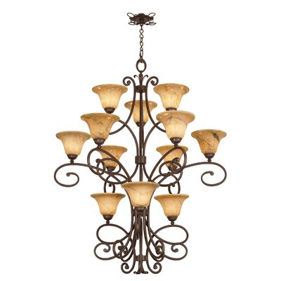 Amelie 12-Light Shaded Chandelier
