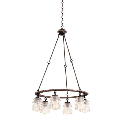 Brierfield 6-Light Shaded Chandelier