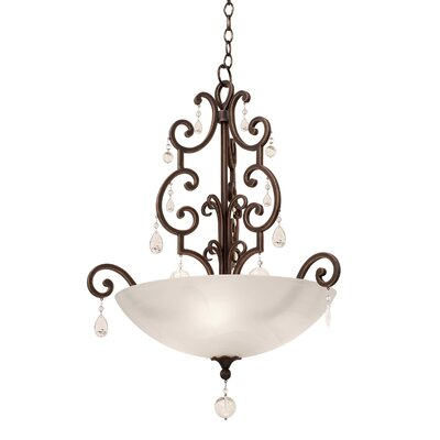 Montgomery 3-Light Bowl Pendant Finish: Vintage Iron