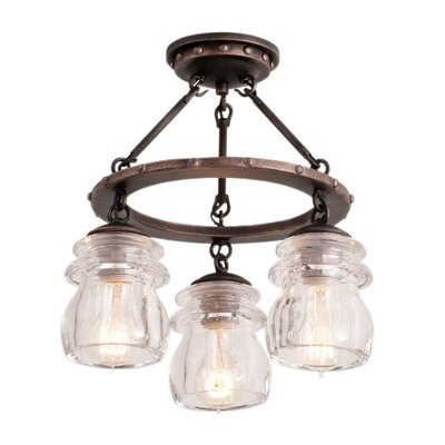 Brierfield 3-Light Semi Flush Mount