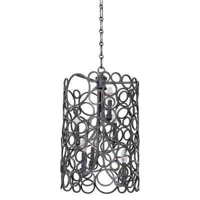 Ashbourne 6-Light Foyer Pendant Finish: Vintage Iron