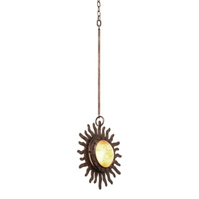 Polaris 1-Light Mini Pendant Base Finish: Moon Silver
