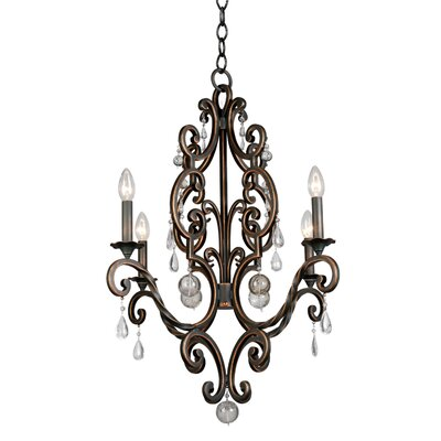 Montgomery 4-Light Candle-Style Chandelier Finish: Vintage Iron