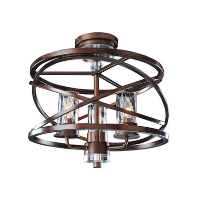 Eternity 3-Light Semi Flush Mount