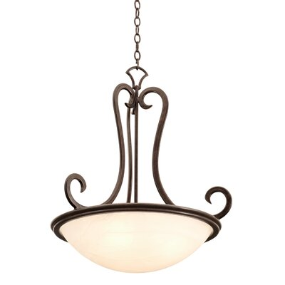 Santa Barbara 3-Light Pendant Shade Type: White Alabaster