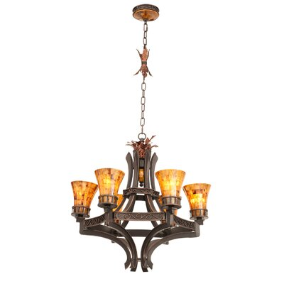 Marlowe 6-Light Shaded Chandelier Finish: Antique Copper