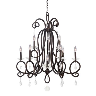 Winona 10-Light Candle-Style Chandelier