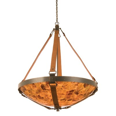 Rodeo Dr. 6-Light Pendant Finish: Antique Copper, Shade Type: Buddha Leaf