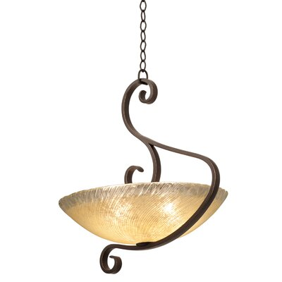 G-Cleft 3-Light Bowl Pendant Shade Type: Bowl shade, 20 Victorian Penshell, Finish: Tawny Port