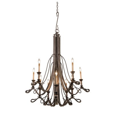 Keller 10-Light Candle-Style Chandelier Finish: Vintage Iron