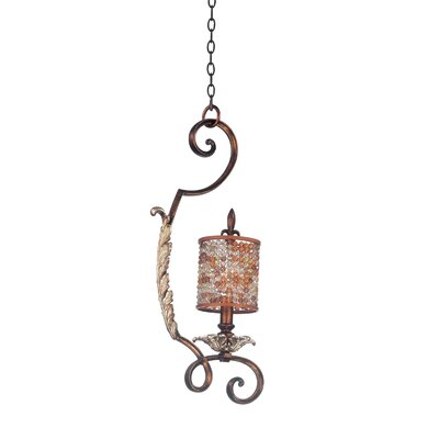Chesapeake 1-Light Mini Pendant Shade Type: Color Beaded Tapered, Finish: Sienna Bronze