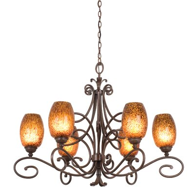 Amelie 6-Light Shaded Chandelier