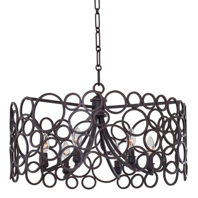 Ashbourne 6-Light Pendant Finish: Vintage Iron