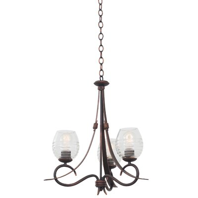 Seabrook 3-Light Shaded Chandelier Finish: Antique Copper