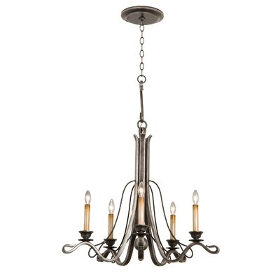 Keller 5-Light Candle-Style Chandelier Finish: Vintage Iron