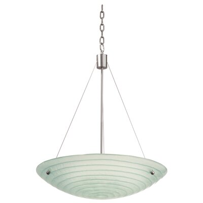 Aqueous 3-Light Inverted Pendant Size: 15.38, Bulb Type: Incandescent